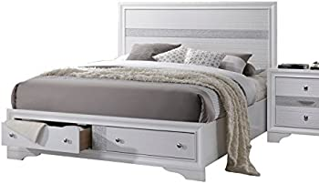 ACME Naima White Queen Bed with Storage