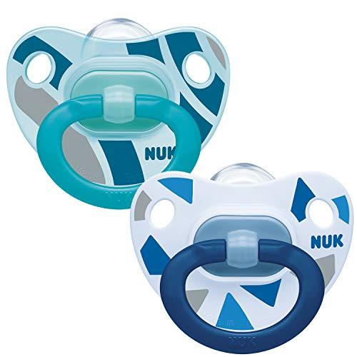NUK - Happy Days - Chupetes para bebé Diseño variado. Talla:6-18 meses