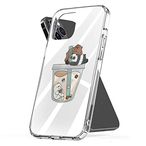 Phone Case We Bare Bears Boba Compatible with iPhone 6 6s 7 8 X XS XR 11 Pro Max SE 2020 Samsung Galaxy Scratch Shock Charm