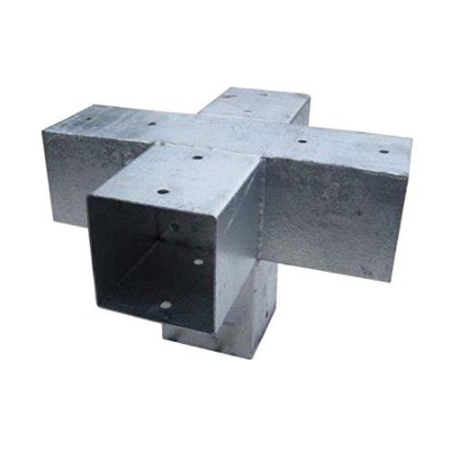 Holzverbinder T-Form für 5x Balken 90x90 Pfostenecke Pfostenverbinder von Gartenpirat®
