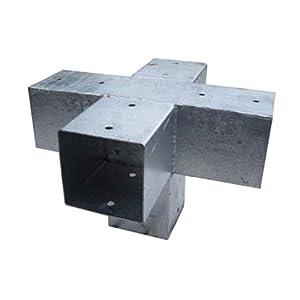 Gartenpirat Conector Poste Madera Cuadrado, 5 Postes, 9x9 cm, Acero, Exterior