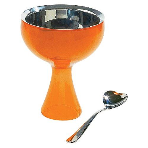 "Alessi AMMI01S O ""Big Love"" - Copa y cuchara, color naranja"