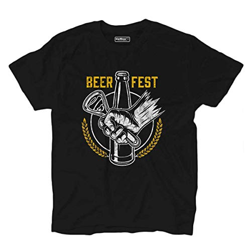 FD Beer Fest T-Shirt Beer Foam Beer Open Cap Men's Party