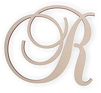 Jess and Jessica Wooden Letter R Wooden Monogram Wall Hanging Large Wooden Letters Cursive Wood Letter