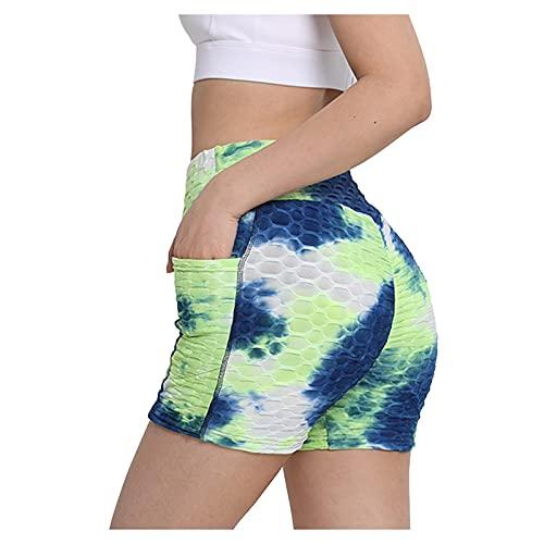 Pantalones de yoga con cordón de cintura alta y cordón para mujer