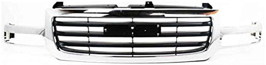 Koolzap For 02-07 Sierra Pickup Truck Front Grill Grille Assembly Chrome GM1200475 19130791