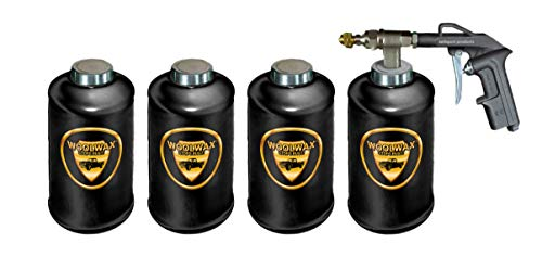 woolwax Lanolin Vehicle undercoating kit (4) Quarts w/PRO Gun & (2) Extension Wands. Black Color