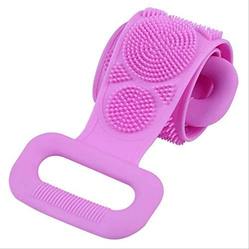 Brosse En Silicone Serviette De Bain Essuyer Le Dos Boue Peeling Body Shower Magic Brush Flexible Scrubber Nettoyage De Salle De Bain Taille Unique H