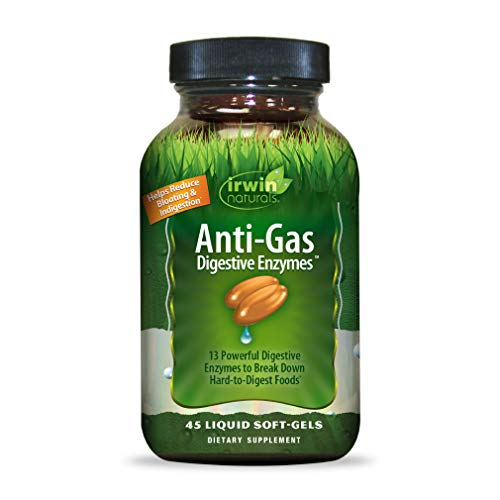 Anti-Gas enzimas digestivas, 45 Liquid Cápsulas Blandas de Irwin Naturals -