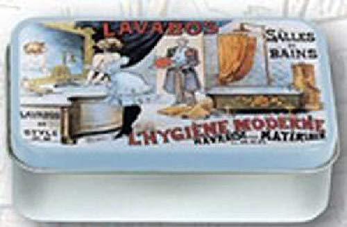 Boite A SAVONS Metal PUB Retro des LAVABOS pour Hygiene Moderne A LA Francaise