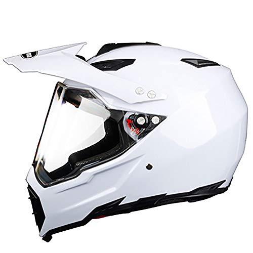 Motocross-Helm für Herren, vollständig bedeckter Rallye-Helm, Lokomotiv-Sicherheitshelm, individueller Saisonallampe, Schwarz/Weiß/Gelb/Blau M 5Blacklens