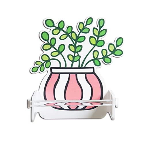 LIU- Porta Papel Higiénico Dispensador De Toallas De Papel En Rollo Acrílico Autoadhesivo Montado En La Pared para Cocina Y Baño, Sin Perforaciones Fácil De Limpiar(Size:Grande)