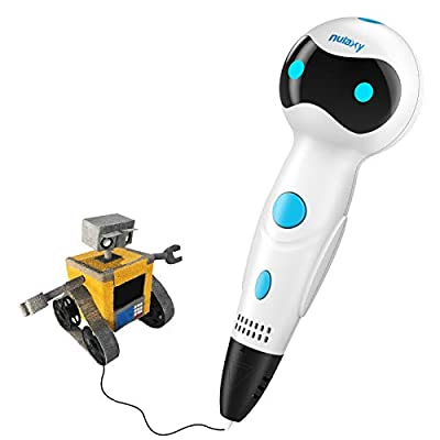Nulaxy 3D Pen, First Robot 3D Drawing Printing Printer Pen with Voice Prompts PLA Filament Refills Automatic Feeding, Best Birthday Holiday Gifts Toys to Inspire Kids Creativity
