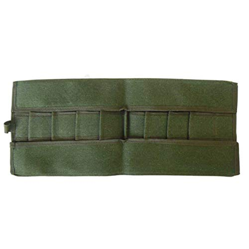 Bonsai Tool Bag,Bonsai Tools,Storage Package Gardening Tool Canvas Roll Bag Portable Compact with 10 Pockets Green