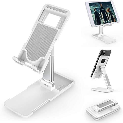 Lasuki Supporto per Telefono Supporto per Tablet Supporto Pieghevole e Regolabile e Portatile Supporto per Cellulare da Tavolo Compatibile con Tutti i telefoni cellulari/iPad/Nintendo Switch ECC.