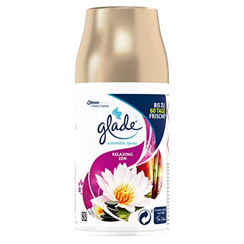 Glade (Brise) Automatic Spray Nachfüller, Raumduft, Relaxing Zen, 4er Pack (4 x 269 ml)