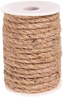 Natural Strong Jute Twine 32 Feet 6 mm Hemp Rope Cord For Crafts DIY Decoration Toy Gift Wrapping