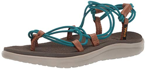 Teva Women's W VOYA Infinity Sandal, deep Lake, 5 Medium US