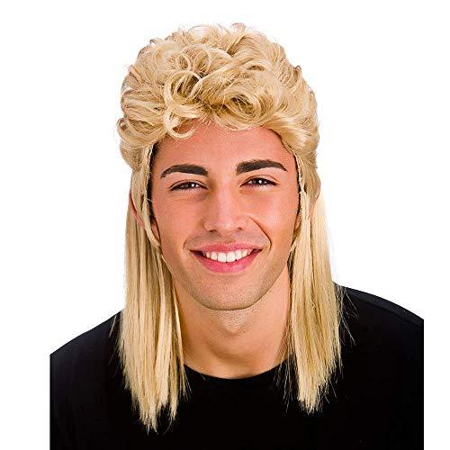 Blonde 80er Jahre Stil Mullet Perücke Zubehör für Karneval / Halloween Einheitsgröße