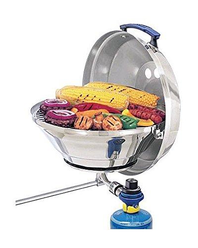 MAGMA Edelstahl Gas-Grill - zur Nutzung mit Camping-Gasflaschen