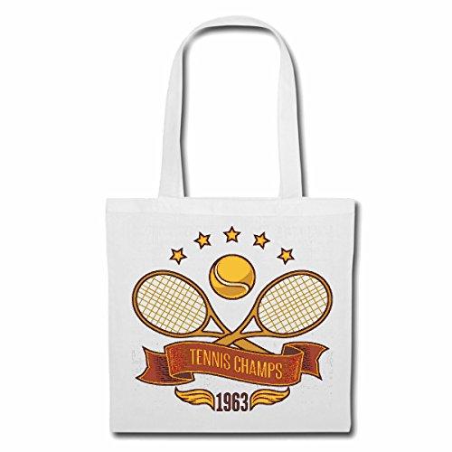 sac à bandoulière TENNIS CHAMPS TENNIS BALL TENNIS RACKET TENNIS TOURNOI TENNIS LIFESTYLE FASHION STREETWEAR HIPHOP SALSA LEGENDARY Sac Turnbeutel scolaire en blanc
