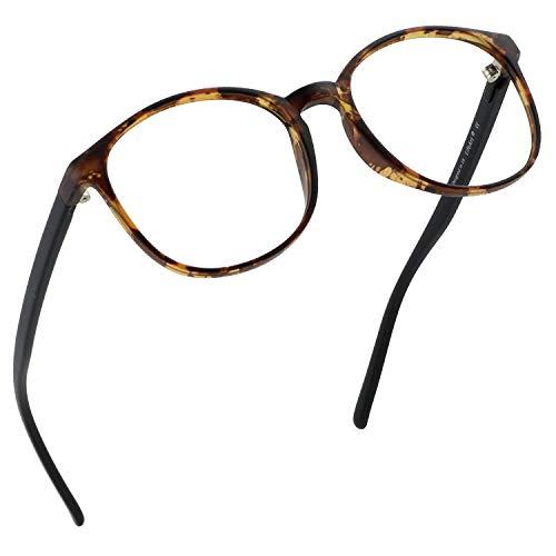 LifeArt Blaue Licht Blockieren Brille, Anti-Augen-Müdigkeit, Computer Lesebrillen, Gaming Brille, TV Brille für Frauen Männer, Anti UV, Anti Glare (Schildkröte, 0.50 Vergrößerung)