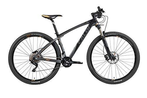 Bicicleta Mtb Caloi Carbon Ibex Aro 29 Tam M Shimano Deore/xt suspensão Rock Shox Preto
