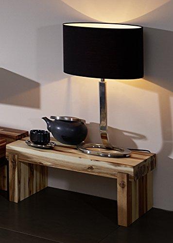 SAM Nachtkommode Casanova, Akazie massiv, gewachst, Nachtkonsole in Balken-Optik, Nachttisch 50 x 37 cm