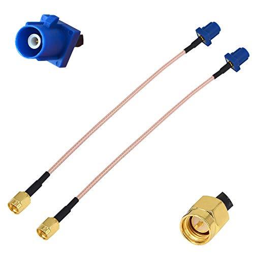 YILIANDUO Dab + Cable de Antena de Antena GPS para automóvil Fakra C Macho a SMA Cable de Cable Flexible RG316 15CM para GPS Auto Car DVR Modul Tracking Navegación Paquete de 2