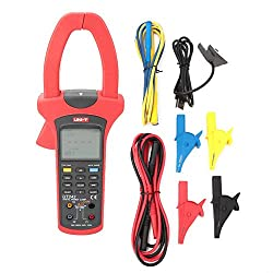 Digital Clamp Meter, UT243 Auto Ranging Digital Clamp Meter Tester Multimeter LCD Backlight True RMS for AC DC Current Voltage Testing