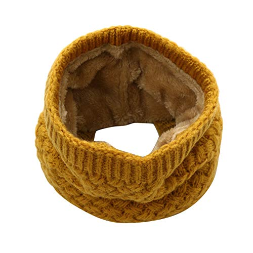 CQLKLI Winter Männer Frauen Warme Strickring Schals Dicke Elastische Strickschalldämpfer Nackenwärmer Jungen Mädchen Plüsch Schal Kragen