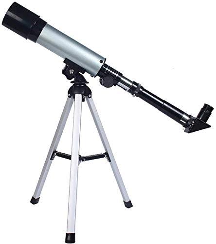 Meyeye Telescope 90X Refracting Astronomische Telescoop Hemelse Spiegel Helder Beeld Reizen Scope Elescoop (Kleur: Zilver, Maat : 38.5cm)