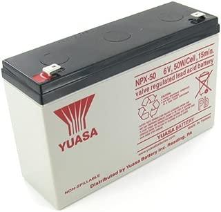 Yuasa NPX-50 Sealed Lead Acid Battery with F2 Terminal