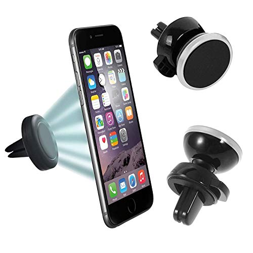 N4U Online® Elefon P8000 Magnetische Lüftungsschlitz Halterung Universal Handy Halter Silber