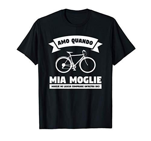 Idea regalo ciclismo per marito un costume da ciclista Maglietta