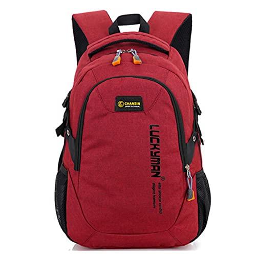 UKKO Zaino Adolescenti Borse Scolastiche Ragazzi E Ragazze School Daypack Daypack per Uomini Donne Lavorano Zaino da Viaggio per Laptop-Red