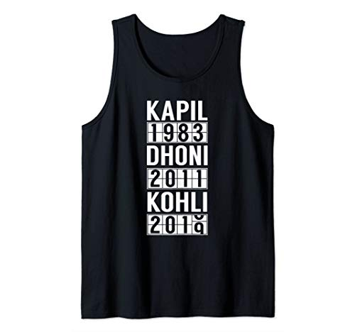 India Cricket Team Fan Jersey Tank Top
