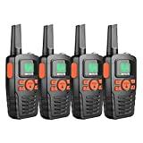 Retevis RA635 Walkie Talkie PMR446, 16 Canales, Linterna LED, Pantalla LCD Retroiluminada VOX Walkie-Talkie Larga Distancia(Negro, 4 Piezas)