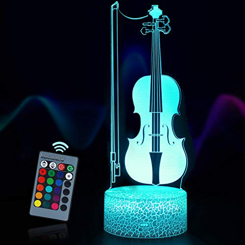 Yordawn 3D Illusion Lamp LED Night Light for Kids 16 Colours Changing with...