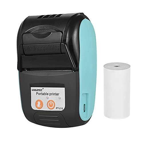 Bisofice Impresora térmica portátil GOOJPRT PT-210, impresora de recibos de mano de 58 mm para tiendas minoristas, restaurantes, fábricas, logística