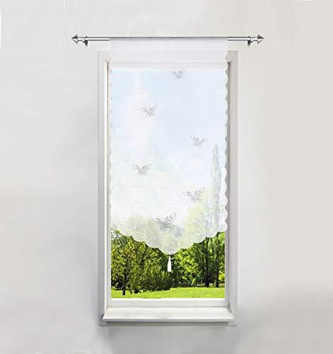 Scheibengardine mit Schmetterling Laserschneiden Rollos Voile Transparent 1er-Pack Bildergardine (BxH 60x120cm)