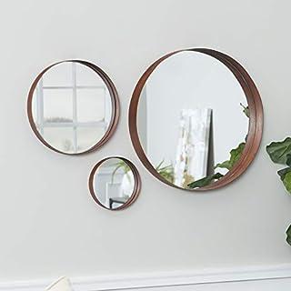 Walker Edison Furniture AZ22BR3CPR Round Copper Wall Mirror Set, Set of 3, Copper (B078422QXW) | Amazon price tracker / tracking, Amazon price history charts, Amazon price watches, Amazon price drop alerts