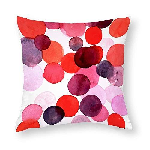 Lsjuee Fundas de Almohada Decorativas Bubbles Throw Pillow Funda de cojín Funda de cojín Decoración para el hogar, Cuadrado 18 X 18 Pulgadas Decorative Pillow Covers Bubbles Throw Pillow Case Cushio