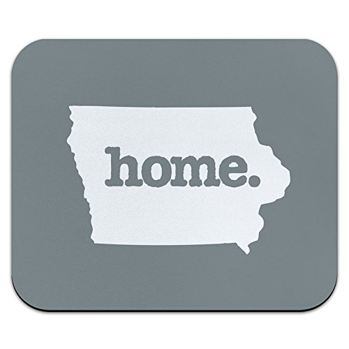 Iowa IA Home State Mouse Pad Mousepad - Solid Grey Gray