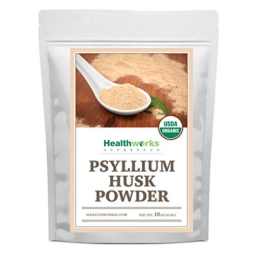 Healthworks Psyllium Husk Powder (16 Ounces / 1 Pound) | Raw | Certified Organic | Finely Ground Powder from India | Keto, Vegan & Non-GMO | Fiber Support