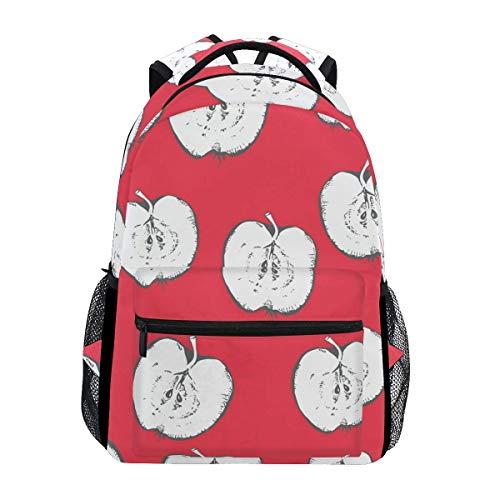 Mochilas escolares bosquejo de Apple Bookbags bolsa para niñas niños primaria