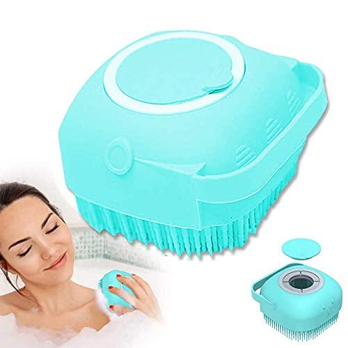 Monnstar Cepillo de baño de silicona, cepillo de baño para bebés y adultos, herramienta exfoliante para el baño (3 azules)