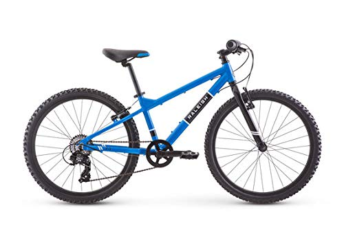 Raleigh Bikes Rowdy 24 Kids Mountain Bike for Boys Youth 9-12 Years Old, Blue