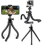 micros2u Trípode Flexible de Viaje tipo Pulpo 'GRIP-IT'. Compatible con GoPro Hero, Action Cam, cámaras compactas, teléfonos, smartphones