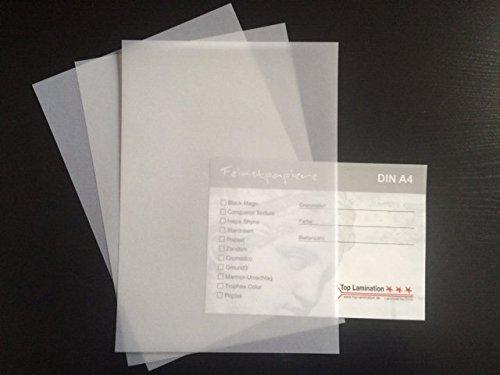 100 Blatt Transparentpapier weiß durchscheinend DIN A4 170 g/qm von Top Lamination Super Qualität - toll für Hochzeitskarten oder Einladungen, Speisekarten, zum Basteln, für Architekten